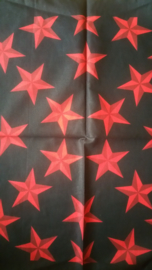 Bandana Black Red Stars