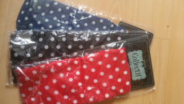 Collectif, Sash Scarf Polkadot Chiffon in Black , Red or Navy..