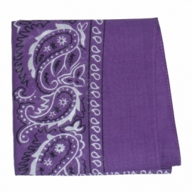 Bandana in Purple.