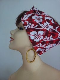 Bandana in Red Hawaiien