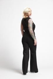 Retro top Dolly in black lace