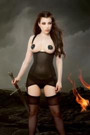 Kiss me Deadly, Cupless Vargas Dress Black.