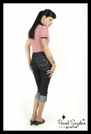 Rumble 59, Ladies Denim Capri.