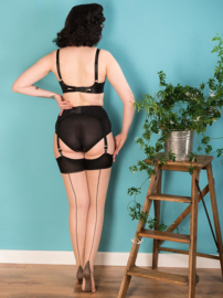 What Katie Did, Seamed Stockings Contrast Black Glamour.