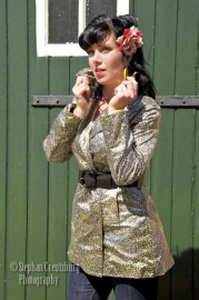 Giri Design, Waist Coat in Leopard.