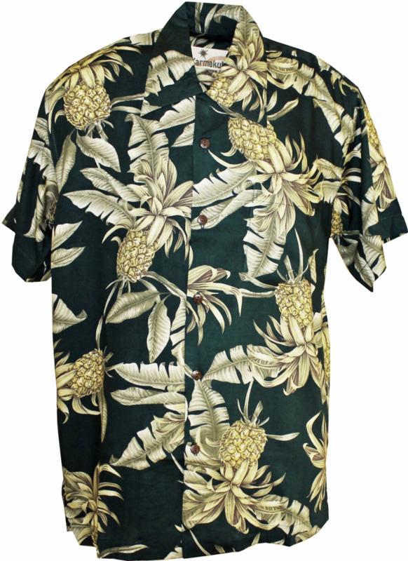 Karmakula, Big Pineapple Green Hawaiien Shirt.
