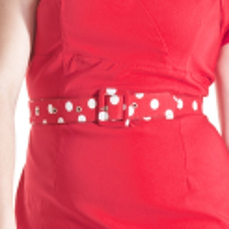 Collectif, Polkadot Belt in Red / White.