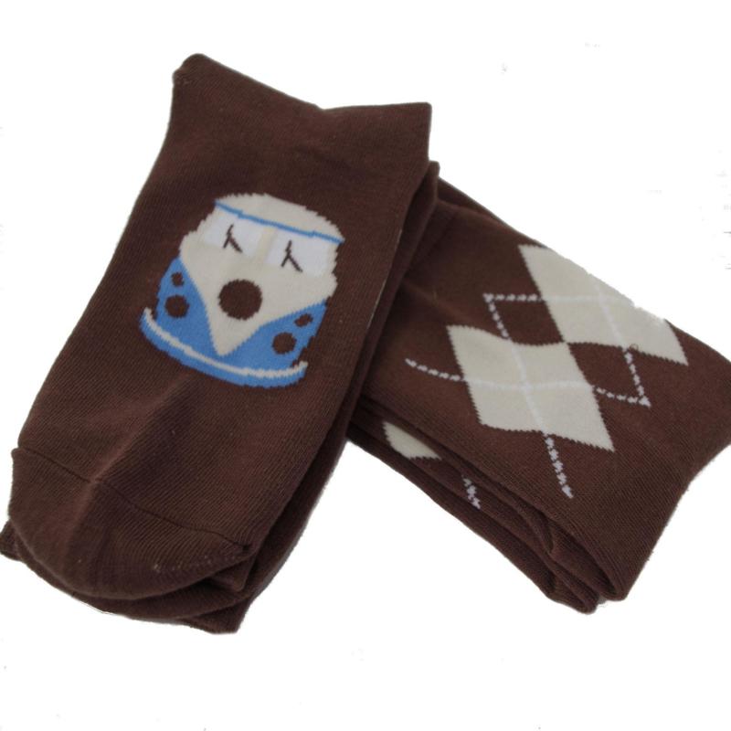 Warrior, Twin Pack VW Brown Argyle Socks.