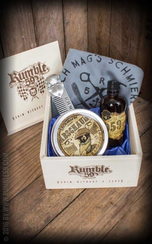 Rumble 59, Schmiere Giftset Shave.