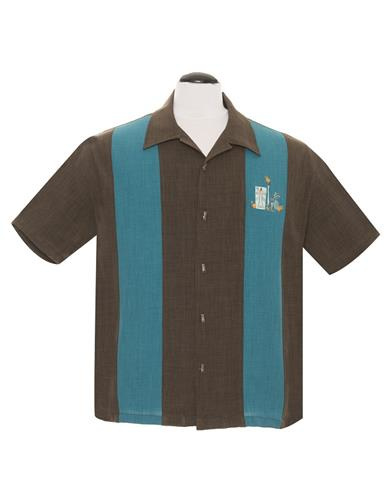 Steady Clothing, The Mickey in Coffee/ Teal.
