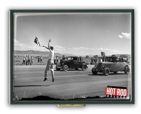 Retro a Gogo, Hot Rod Deluxe Drag Strip Cigarette Case.