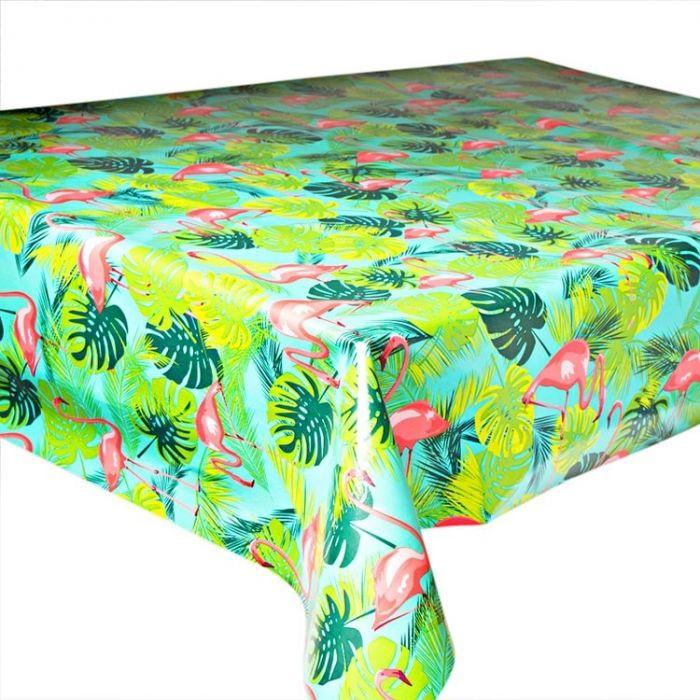 Kitsch Kitchen, Oilcloth Flamingo.