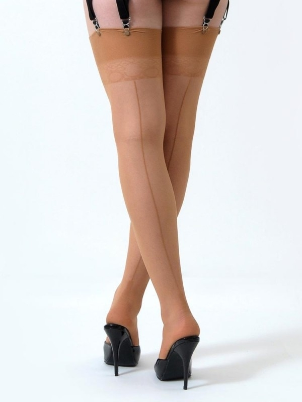 What Katie Did, Retro Seamed Stockings in Champagne.