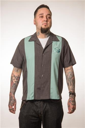 Steady, The Mickey Button Up Charcoal.