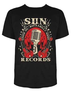 Steady, Sun Electric Mic Mens Tee Black in Small.