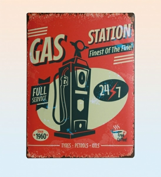 Tin Sign - Gas Station.