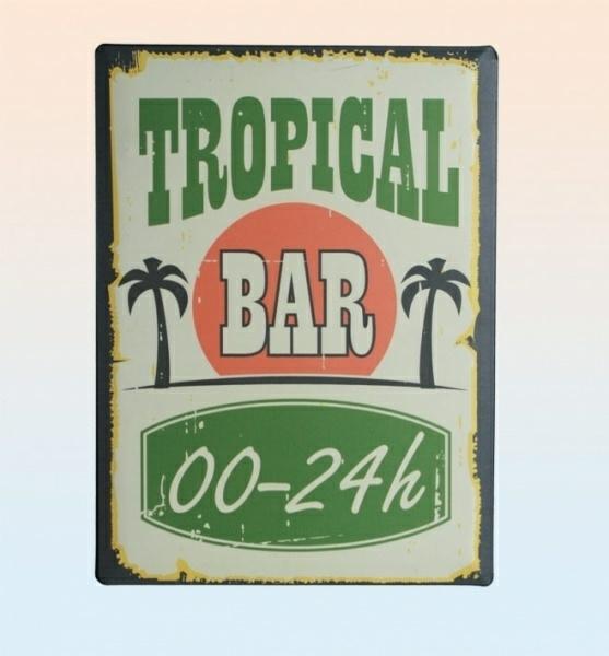 Tin Sign - Tropical Bar.