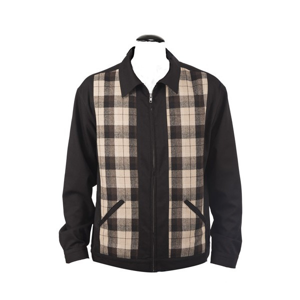 Steady, Two Tone Plaid Jacket.