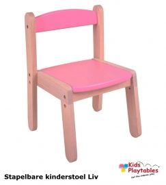 Stapelbare kinderstoel Liv Roze