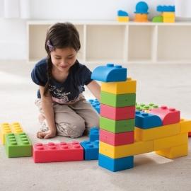 Zachte Reuze Speelblokken voor uw kinderhoek set 64 stuks