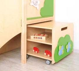 Speelhuis voor de kinderopvang Boomhut met glijbaan