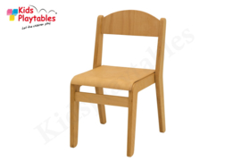 Houten Stapelbare HPL stoel , stapelstoel, kinderstoeltje Tamara klassiek 2 | kinderopvang en BSO
