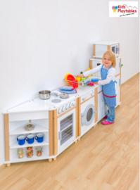 Kinderkeuken Compleet 7-delig in de kleur wit | Kleuterkeuken | Speelgoedkeuken