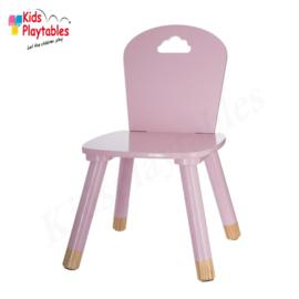 Kinderstoeltje Roze | zithoogte 26 cm | kinderzetel | Houten stoeltje voor kinderen | stoel kind | Peuterstoeltje | kindertafel en stoeltjes van hout | houten stoeltje voor peuters