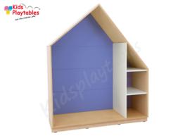 Kastenwand speelhuis met terugtrekruimte donkerblauw