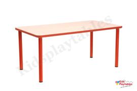 Rechthoekige groepstafel voor de kinderopvang 115 x 65 cm in div kleuren en hoogtes