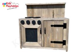 Kinderkeuken Speelgoed keuken | Steigerhout kinderkeuken geloogd steigerhout