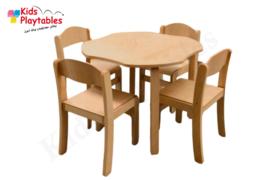 Houten Stapelbare HPL stoel , stapelstoel, kinderstoeltje Tamara klassiek 1   kinderopvang en BSO