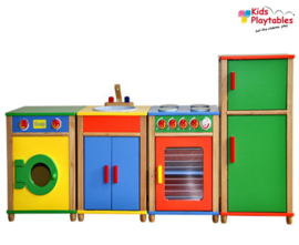 Kinderkeuken Speelgoed keuken Vigatoys Compleet 4-delig in Kleur