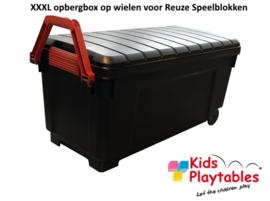 Jumbo XXL Rolbox op wielen voor Reuze speelblokken
