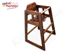 Hoge kinderstoel hout kleur Mahonie - kinderzetel - kinderstoelen - eetstoel baby - Kinderstoel Horeca - houten stoel