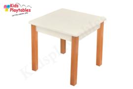 Houten vierkante tafel kinderopvang 50 x 50 cm wit