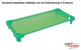 Stapelbare Rustbedje Kunststof groen