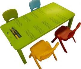 Rechthoekige Kindertafel Rekenen Groen