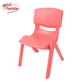 Kunststof Kinderstoeltje rood - zithoogte 25 cm - stapelstoel - schoolstoel -plastic stoel- kinderzetel - stoel kind - Peuterstoel - stapelbaar - kindertafel en stoeltjes van kunststof- plastic stoeltje voor peuters