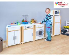Kinderkeuken Speelgoed keuken Compleet 6-delig in de kleur wit