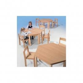 Trapezium tafel kinderopvang 120 x 60 cm