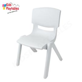 Kunststof Kinderstoeltje Lichtgrijs- zithoogte 25 cm - stapelstoel - schoolstoel -plastic stoel- kinderzetel - stoel kind - Peuterstoel - stapelbaar - kindertafel en stoeltjes van kunststof- plastic stoeltje voor peuters - kunstof stoel