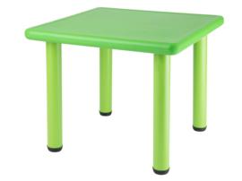 Vierkante Kunststof Kindertafel met 2x kinderstoeltjes - kleur groen- Plastic tafel - Kleurtafel / speeltafel / knutseltafel / tekentafel / kunstof tafel - zitgroep set / kinder speeltafel - kinderzetel - stoel kind