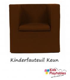 Kinderfauteuil Keun Katoen Donkerbruin