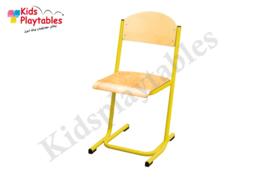 Gele Stapelbare Leerlingstoel met stalen poten U frame