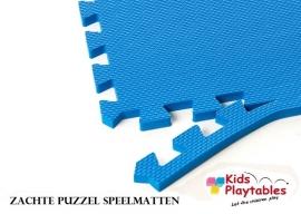 Zachte Puzzel Vloermatten set van 4 matdelen Blauw