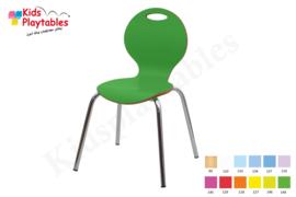 Houten stoel , stapelstoel, kinderstoeltje Luna met metalen poten