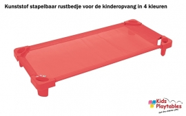 Stapelbare Rustbedje Kunststof rood
