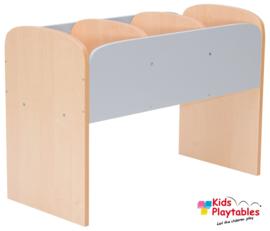 Lage boekenkast voor kinderen in de kleur Grijs