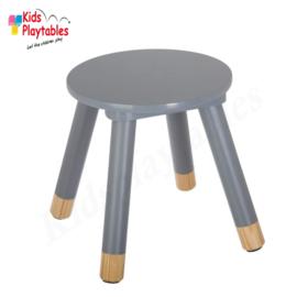 Houten krukje | Kleur grijs | Kinderkrukje hout | kruk | kinderstoel | kinderzetel | krukjes | peuterstoeltje